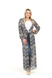 Chevron and Floral Duster