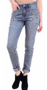 jewel embellished girlfriend jean