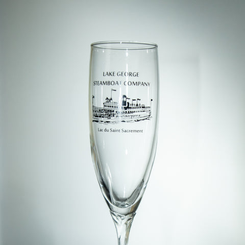 Crystal Clear Glass Saint Champagne Flute