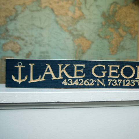 "24"" Lake George Barn Board Wood Sign"