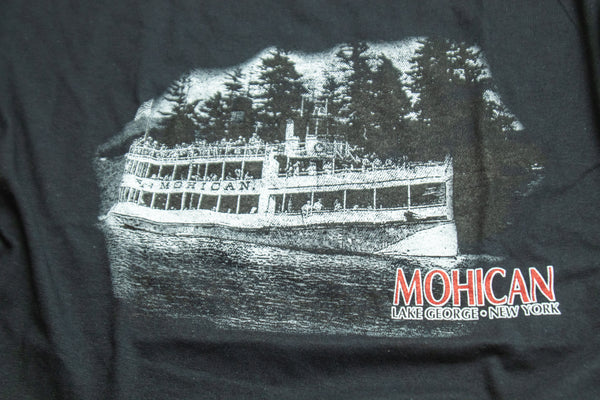 Mohican Foggy Photo Adult Black T-shirt