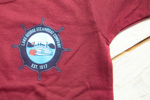 Youth Maroon Minne Ha-Ha Sternwheeler T-shirt