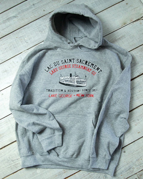 Adult Gray Saint Sacrement Hooded Sweatshirt