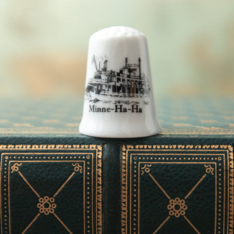 Minne Ha-Ha Ceramic Collector's Thimble