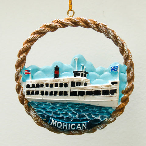 Mohican Round 3D Full-color Two-sided Resin Ornament