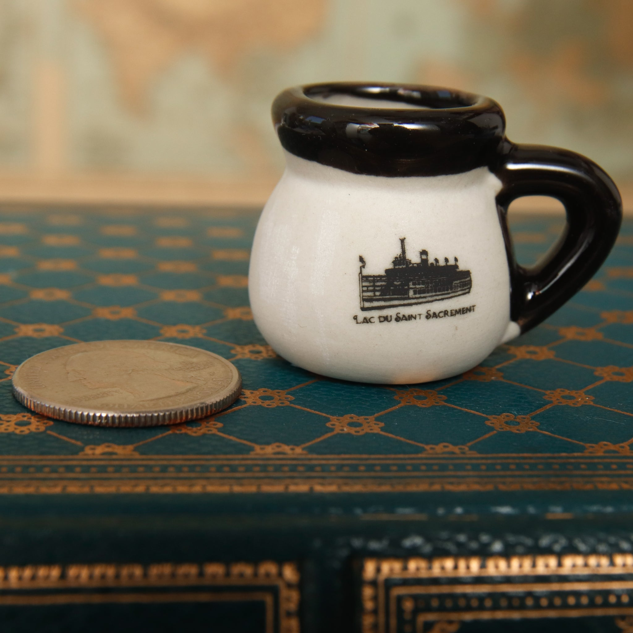 Miniature Clay Saint Pottery Mug
