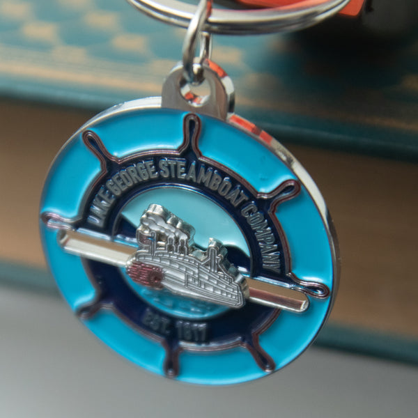 Steamboat Company Logo Keychain with Sliding Minne Ha-Ha