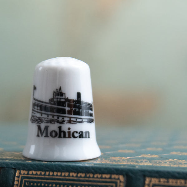 Mohican Ceramic Collector's Thimble in box
