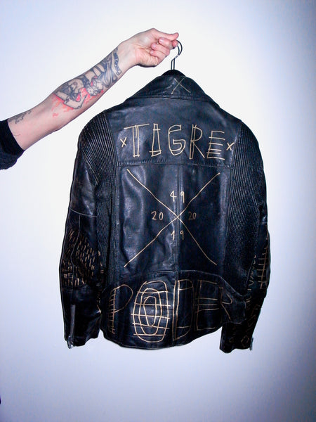 HANDPAINTED LEATHER JACKET by SENHOR VULCÃO