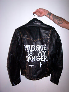 HANDPAINTED LEATHER JACKET by Jehnny Beth