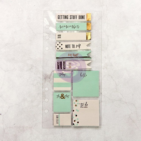 Teal and Gold  Sticky Notes