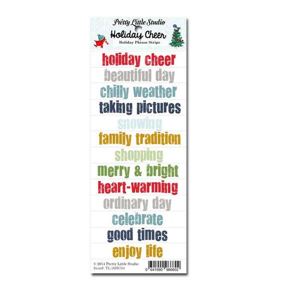 Holiday Cheer Phrase Strips