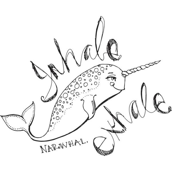 Relaxed Narwhal stamp by Jane Davenport
