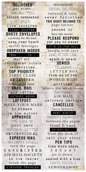 Air Mail - Word Stickers 6x12