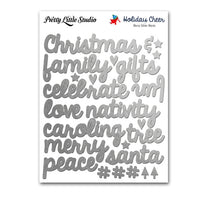 Merry Silver Word Stickers