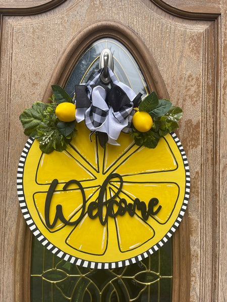 Lemon Door Hanger