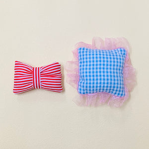 "Load image into Gallery viewer, Dear Darling fashion for dolls ""DIY kit cushions (2 pcs)"" doll size"