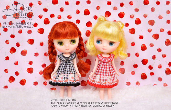 "Dear Darling fashion for dolls ""MAKI gingham check dress"""