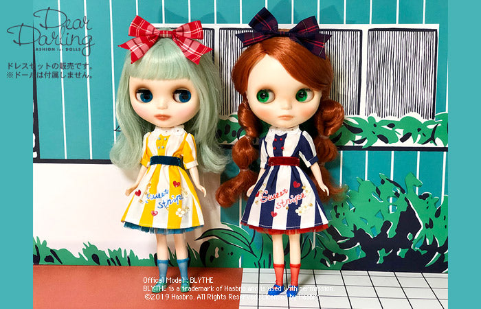 "Dear Darling fashion for dolls ""sandy striped dress set"""