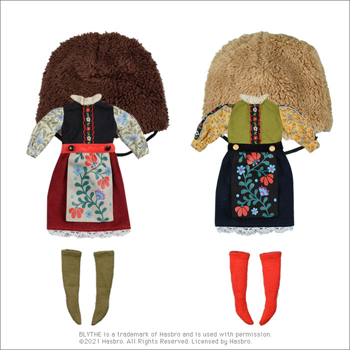 "Dear Darling fashion for dolls ""Fur Hat Girl Set"""