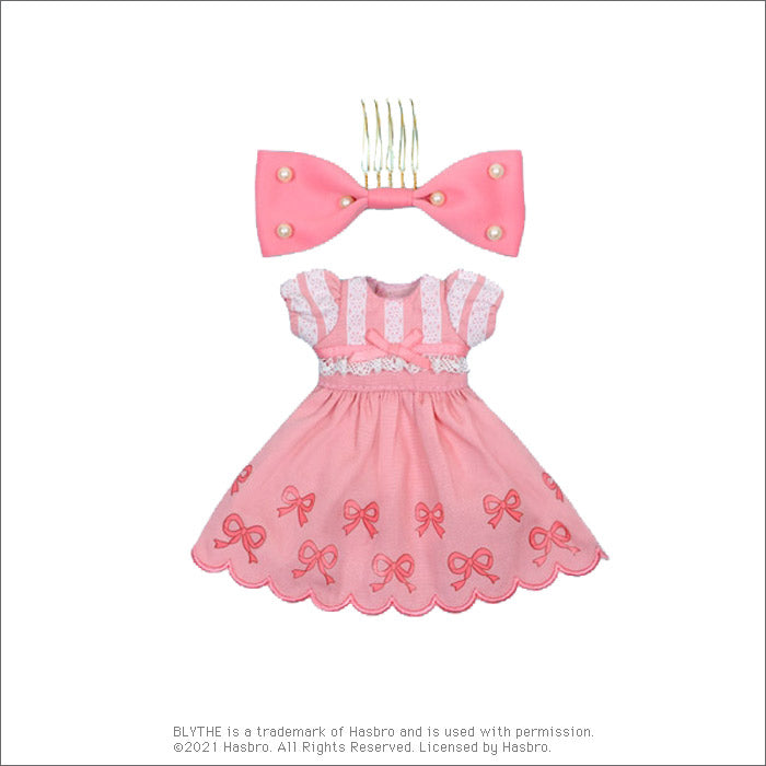 "Dear Darling fashion for dolls ""Shirley Temple Ribbon One Piece Set"""