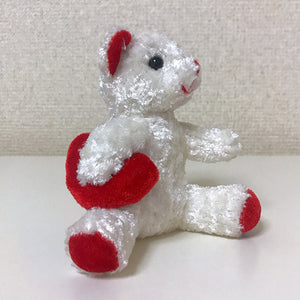 Load image into Gallery viewer, Vintage bear plush toy small (heart white on right hand) 1