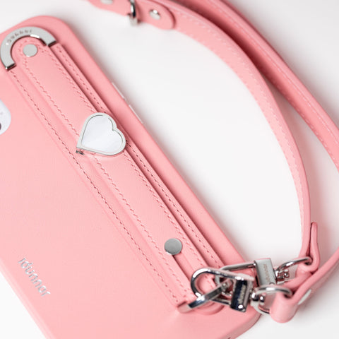 iPhone 13 Pro Max leather Crescent case   Hand strap   charms