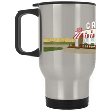 Load image into Gallery viewer, The Ruby Landscape Silver Stainless Travel Mug