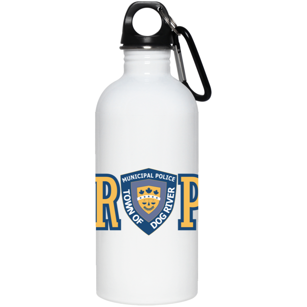 Dog River Police Department Logo Stainless Steel Water Bottle