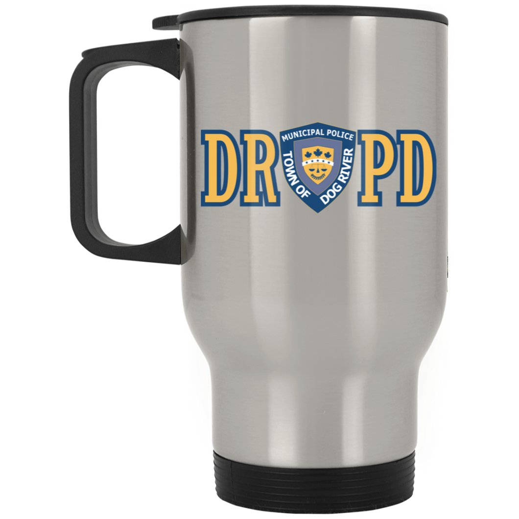 Dog River Police Department Silver Stainless Travel Mug
