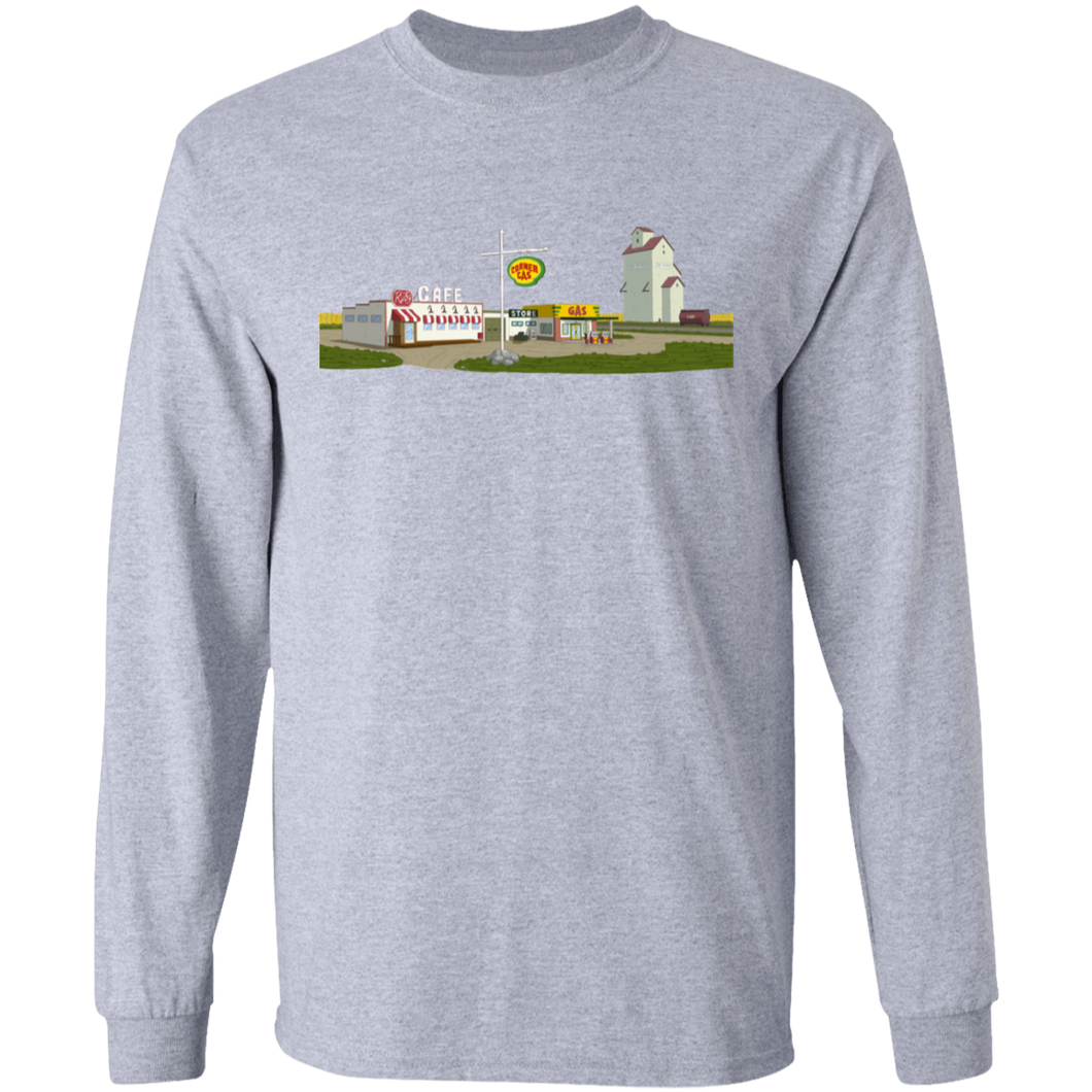 Corner Gas Animated Landscape Long Sleeve T-Shirt