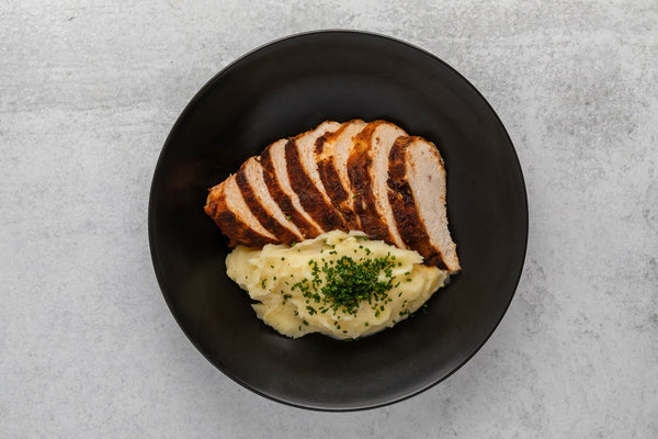 *NEW* Blackened Chicken with Garlic Mashed Potatoes