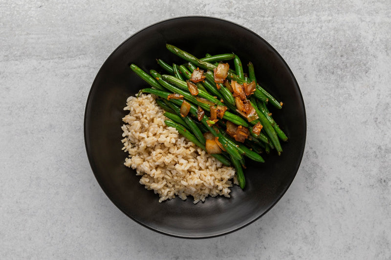 Szechuan String Beans with Brown Rice