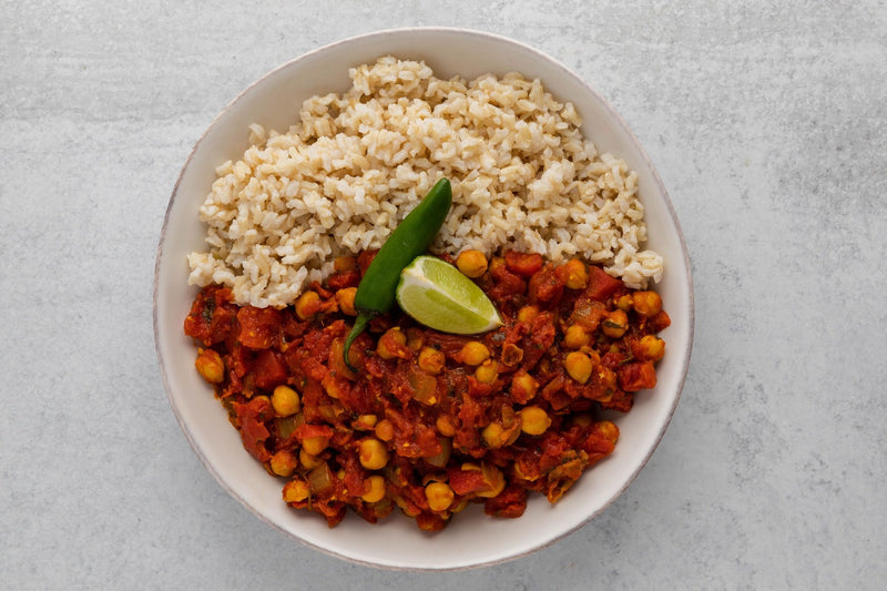 Chana Masala with Brown Rice