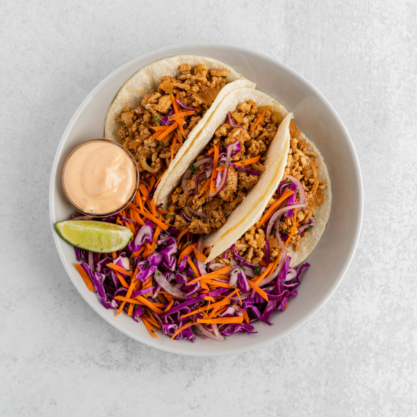 Turkey Tacos with Cabbage Slaw