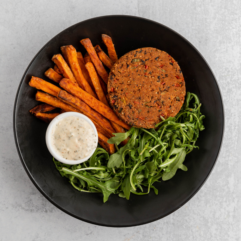 Quinoa Black Bean Burger