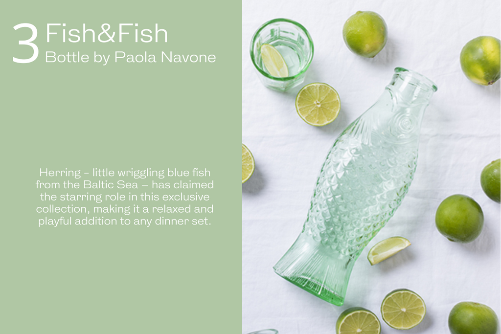 Fish and Fish Bottle by Paola Navone the perfect gift idea for Christmas 2021