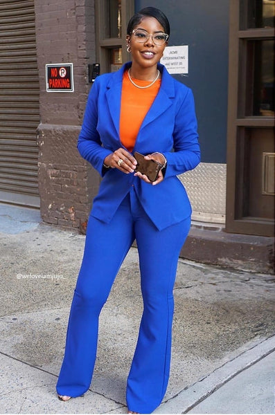 YEAR OF THE WOMEN SUIT - ROYAL BLUE )