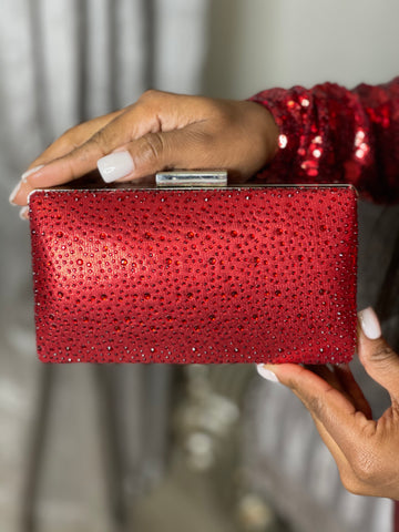 THIS MOMENT CLUTCH - RED