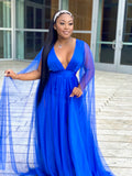 LOVE STRIKES DRESS - ROYAL BLUE