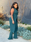 CLEARLY STUNNING TWO PIECE SUIT - TEAL