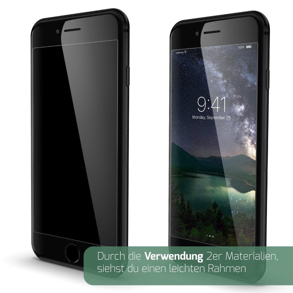GLAZ iPhone 8 Plus Displayschutz Hybrid schwarz inkl. Touch ID Button - GLAZ Displayschutz