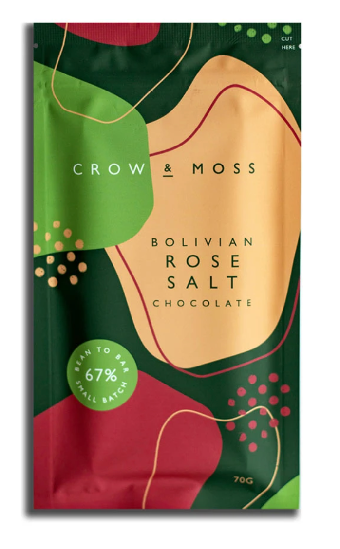 Bolivian Rose Salt Chocolate Bar