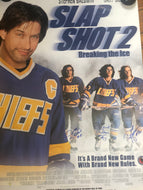 Autographed Slap Shot 2 Rare 1-sheet  Promotional Movie Poster