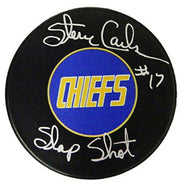 Autographed CHIEFS HOCKEY PUCK