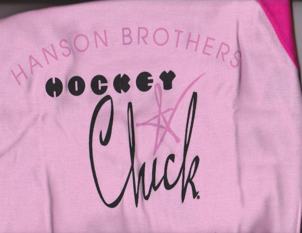 Pink/Pink Hanson Brother Hockey Chick T-Shirts