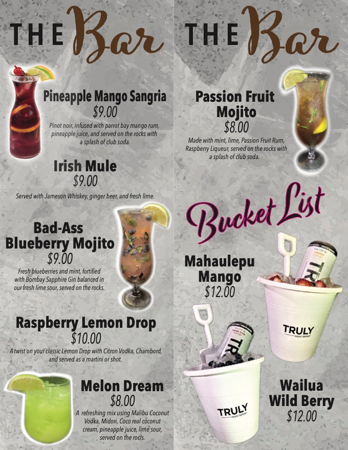 BOP Specialty Cocktails