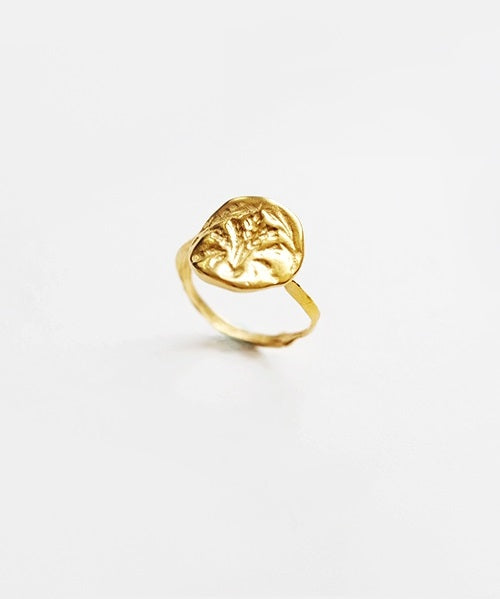 Oat Stamp Ring (Gold)