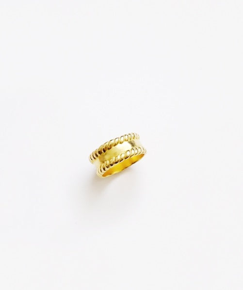 Rope edge Ring - Gold