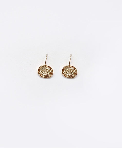 Oat Circle Pierce (Gold)